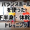 バランスボールを使った下半身・体幹トレーニング紹介